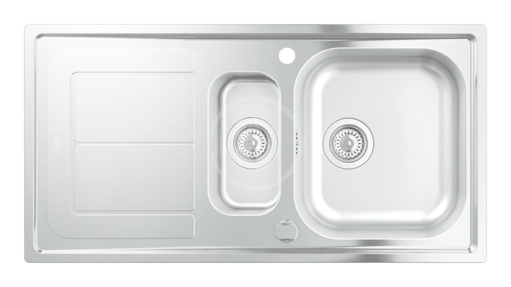 GROHE GROHE - Dřezy Dřez K300 s automatickým odtokem, 970x500 mm (31564SD0)