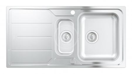 GROHE - Dřezy Drez K500 s automatickým odtokom, 970mm x 500 mm (31572SD0)