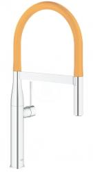 GROHE - Essence Drezová batéria s flexibilným ramenom, chróm/oranžová (124974)