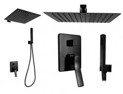 REA - Sprchový set Sonic čierny (REA-P0369)