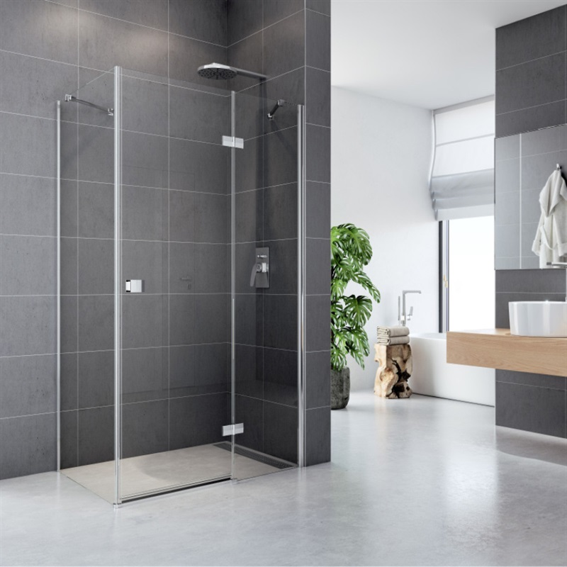 MEREO - Sprchový kout, Fantasy, obdélník, 120x100 cm, chrom ALU, sklo Čiré, dveře a pevný díl (CK10416H)