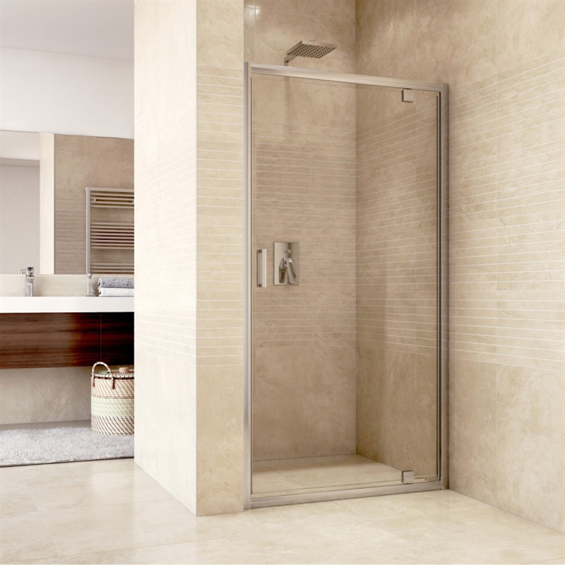 MEREO - Sprchové dvere pivotové, Mistica, 80 cm, chróm ALU, sklo Čiré CK80913H