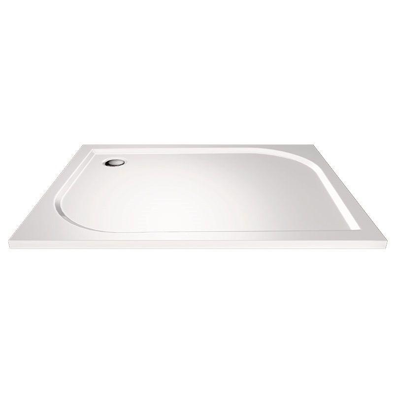 MEREO - Obdĺžniková sprchová vanička, 100x80x3 cm, bez nožičiek, liaty mramor CV78M