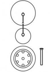 TRES - Súprava príslušenstva pre vaňovú batériu, priemer 70 mm (03474501AC), fotografie 2/1