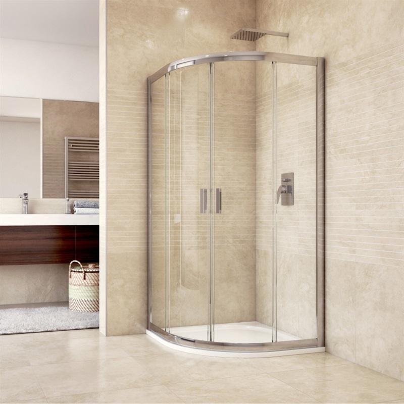 MEREO MEREO - Sprchový set: Mistica, štvrťkruh, 90x90x190 cm, vanička, sifón, sklo číre CK608B23HM