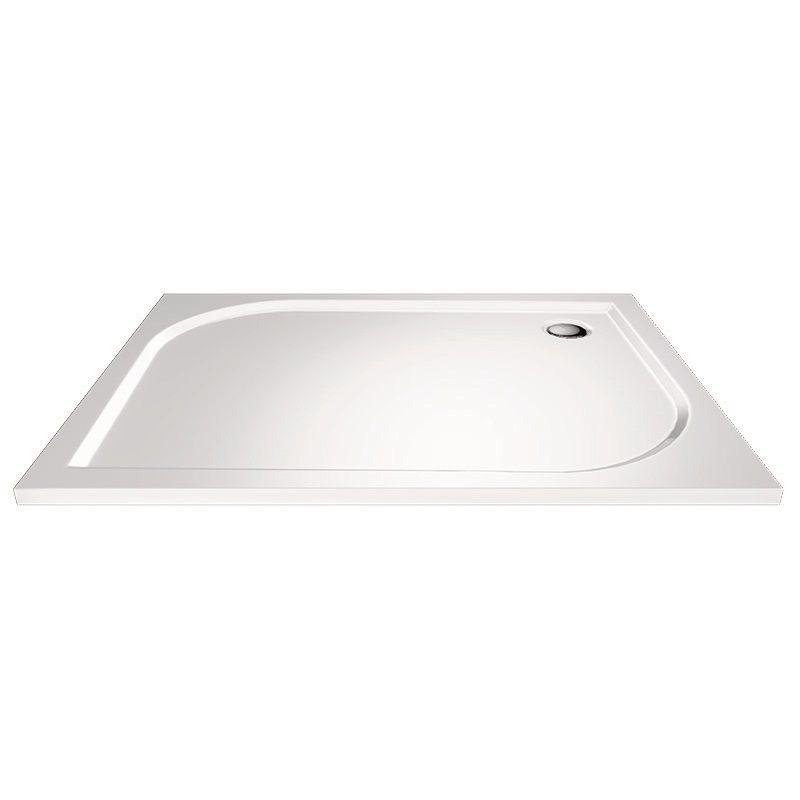 MEREO - Obdĺžniková sprchová vanička, 90x80x3 cm, bez nožičiek, liaty mramor CV74M