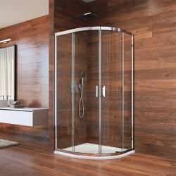 MEREO - Sprchovací kút, LIMA, štvrťkruh, 100 cm, chróm  ALU, sklo Číre (CK608B63K)