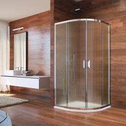 MEREO - Sprchovací kút, LIMA, štvrťkruh, 90 cm, chróm  ALU, sklo Point (CK608B22K)