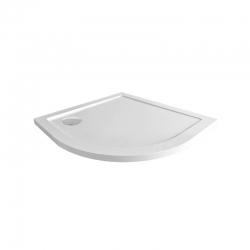 MEREO - Štvrťkruhová sprchová vanička, R550, 90x90x4 cm, SMC, bílá, vrátanie sifónu (CV01NS)
