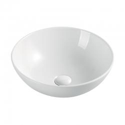 MEREO - Umývadlo na dosku bez prepadu, 400x400x145 mm, okrúhle, keramické (UC404015C)