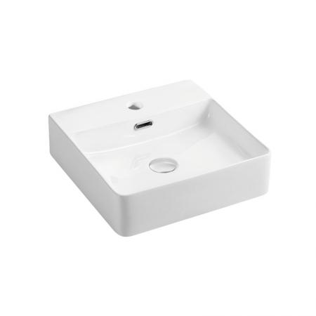MEREO - Umývadlo na dosku aj zavesenie s prepadom, 420x420x120 mm, keramické (UC424212)
