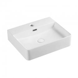 MEREO - Umývadlo na dosku aj zavesenie s prepadom, 500x420x120 mm, keramické (UC504212)