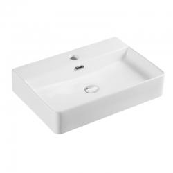 MEREO - Umývadlo na dosku aj zavesenie s prepadom, 600x420x120 mm, keramické (UC604212)