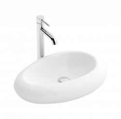 REA - Umývadlo na dosku Amanda 54 biele (REA-U0493)