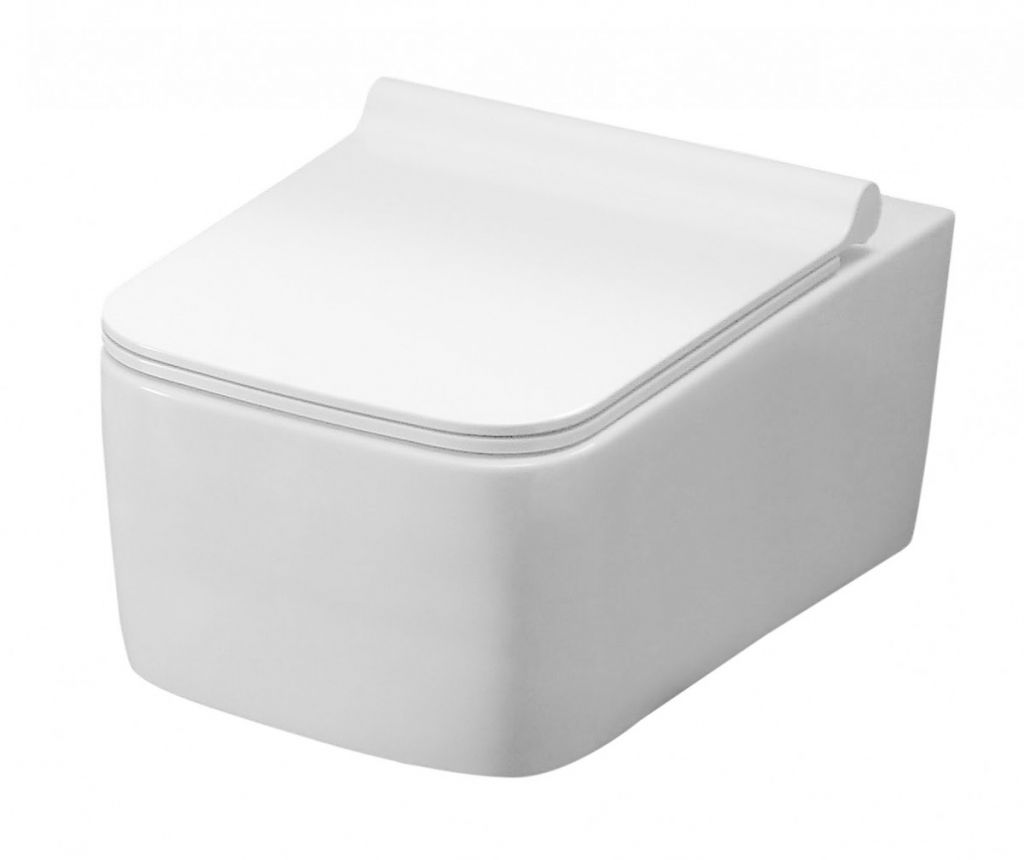 REA - Závesná WC misa Rico Rimless biela REA-C6600