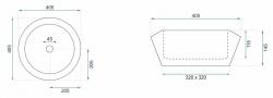REA - Umývadlo na dosku Chic 40,5x40,5 čierna (REA-U8600), fotografie 4/5