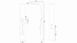 REA - Sprchový panel 9790 biela (REA-P0604), fotografie 4/6