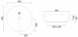 REA - Umývadlo na dosku Elma 45x45 čierna matná (REA-U8494), fotografie 2/5