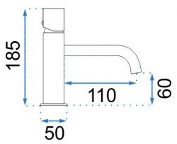 REA - Umývadlová batéria Tomi šedá (REA-B9407), fotografie 4/4