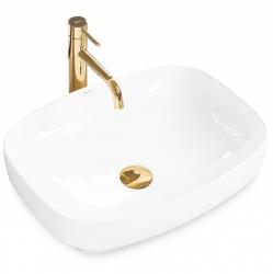 REA - Umývadlo na dosku Gizel 50x39 biela (REA-U9604)