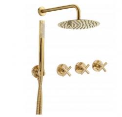 REA - Sprchový set EXIT zlatý (REA-P8001)