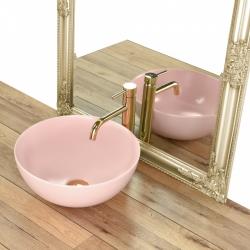 REA - Umývadlo na dosku Stella 36x36 ružové (REA-U1894), fotografie 4/5