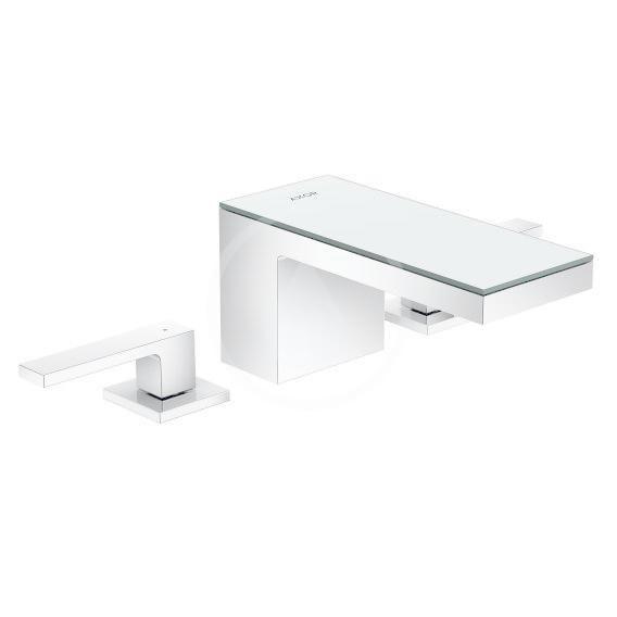 AXOR - MyEdition Umývadlová batéria s výpusťou Push-Open, 3-otvorová inštalácia, chróm/zrkadlové sklo 47050000
