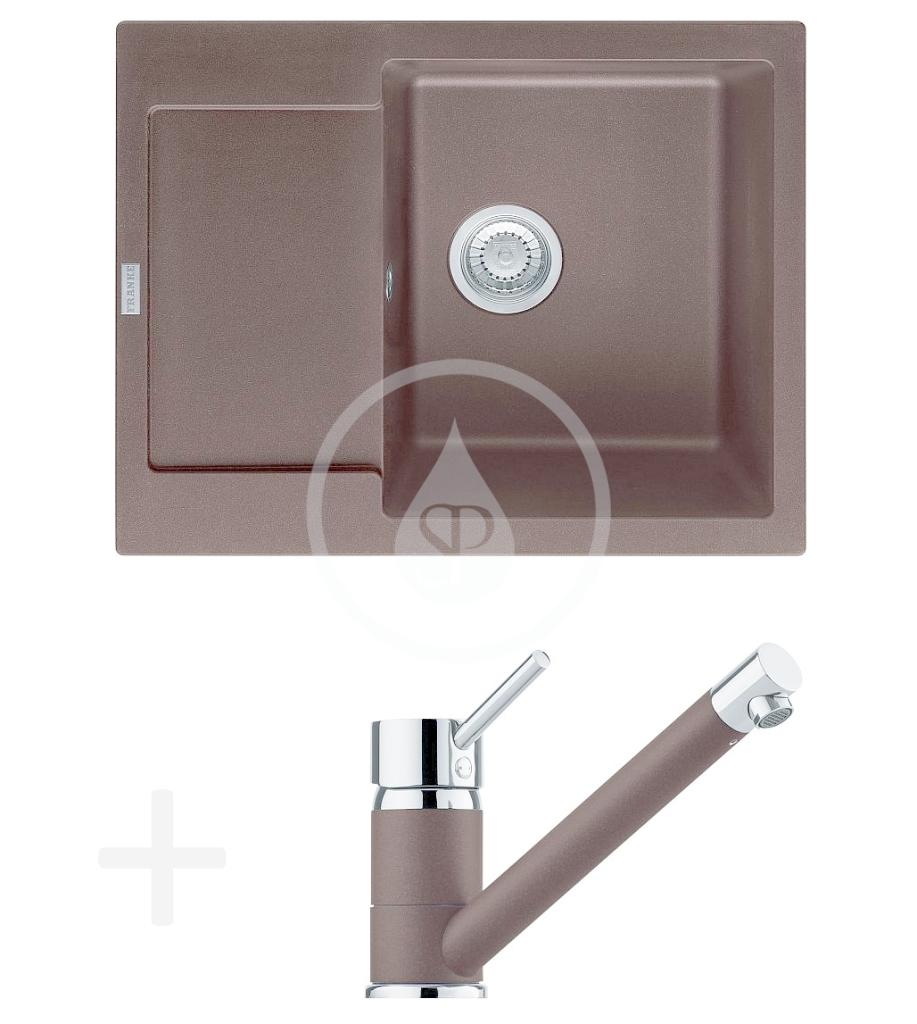 FRANKE FRANKE - Sety Kuchyňský set G69, granitový dřez MRG 611-62, tmavě hnědá + baterie FG 7477.070, tmavě hnědá (114.0365.236)