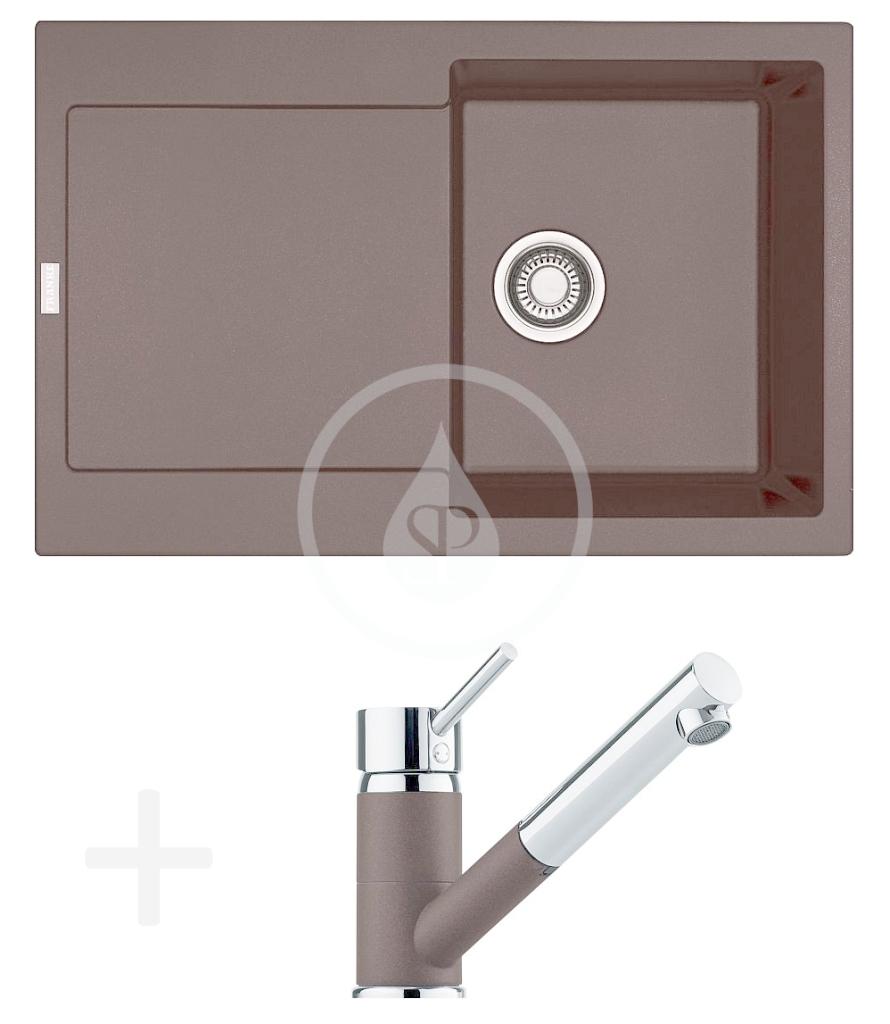 FRANKE FRANKE - Sety Kuchyňský set G72, granitový dřez MRG 611, tmavě hnědá + baterie FG 7486.070, tmavě hnědá (114.0365.287)