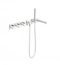 HANSA - Designo Termostatická sprchová batéria pod omietku so sprchovou hlavicou, elektronický prepínač na 2 výstupy, chróm (44874001)
