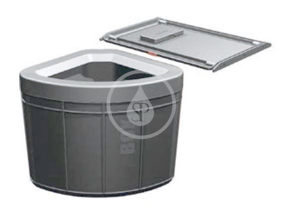 FRANKE FRANKE - Sortery Vestavný odpadkový koš Solo 50, černá (121.0307.568)
