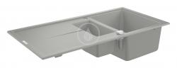 GROHE - Dřezy Kompozitný drez K400 s automatickým odtokom, 1000x500 mm, granitová sivá (31642AT0)