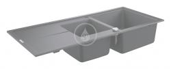 GROHE - Dřezy Kompozitný drez K400 s automatickým odtokom, 1160x500 mm, granitová čierna (31643AP0)