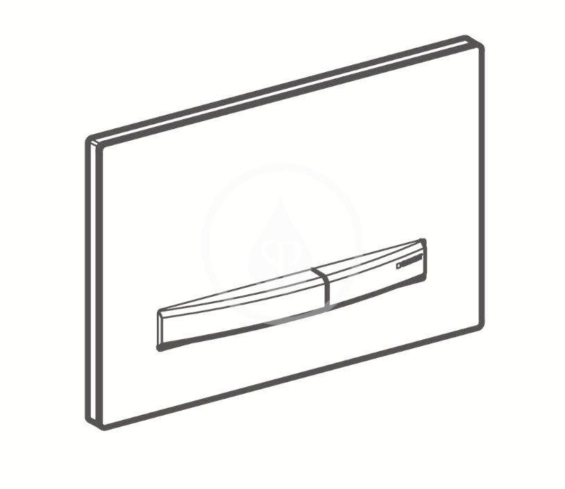 GEBERIT - Sigma50 Ovládacie tlačidlo na 2 množstvá splachovania, dekor betónu/červené zlato (115.670.JV.2)