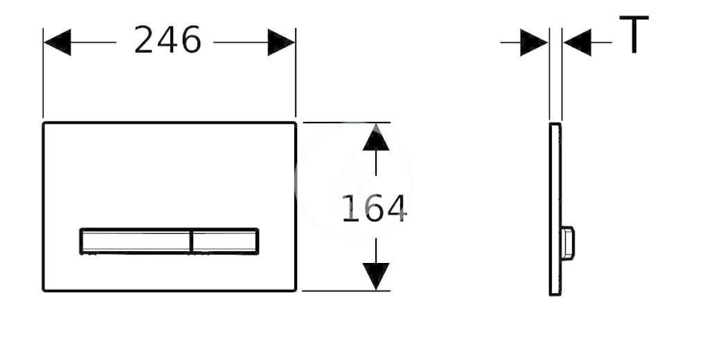 GEBERIT - Sigma50 Ovládacie tlačidlo na 2 množstvá splachovania, bridlica Mustang/mosadz (115.672.JM.2)