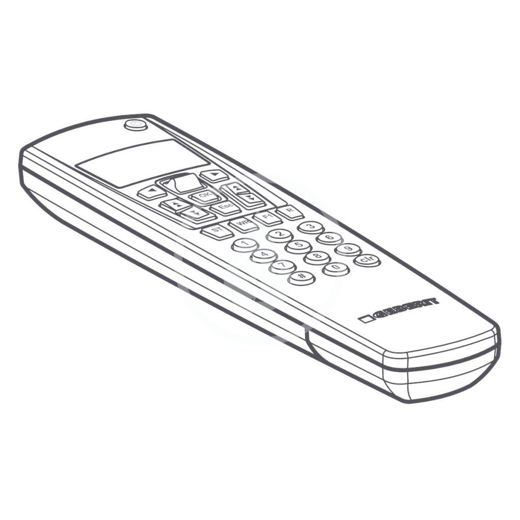 Příslušenství Diaľkový ovládač k elektronickým výrobkom Geberit (115.860.00.1)