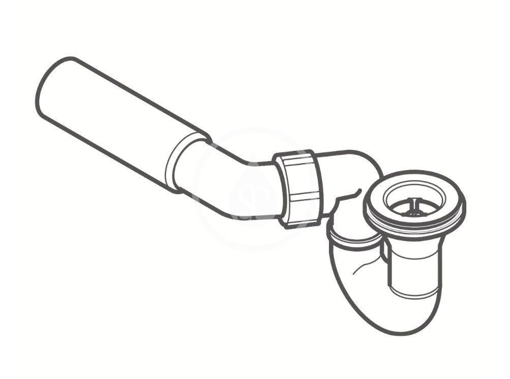 GEBERIT - Příslušenství Sprchová odpadová súprava d52, pripojovacie koleno (150.058.00.1)