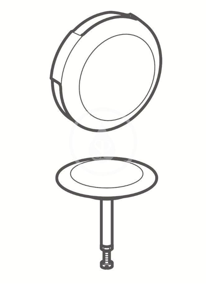 GEBERIT - Příslušenství Súprava na kompletáciu vaňovej odtokovej súpravy, s otočným ovládaním d52, pozlátená (150.221.45.1)
