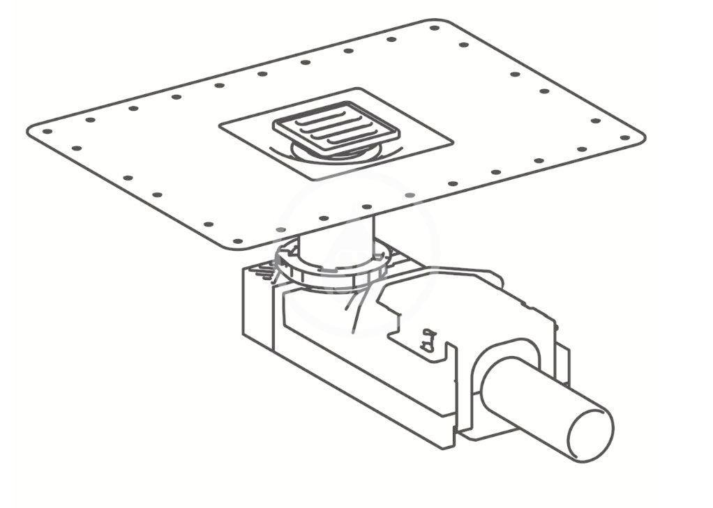 GEBERIT - Příslušenství Sprchový podlahový vpust, na výšku mazaniny u vtoku 90-220 mm (154.050.00.1)