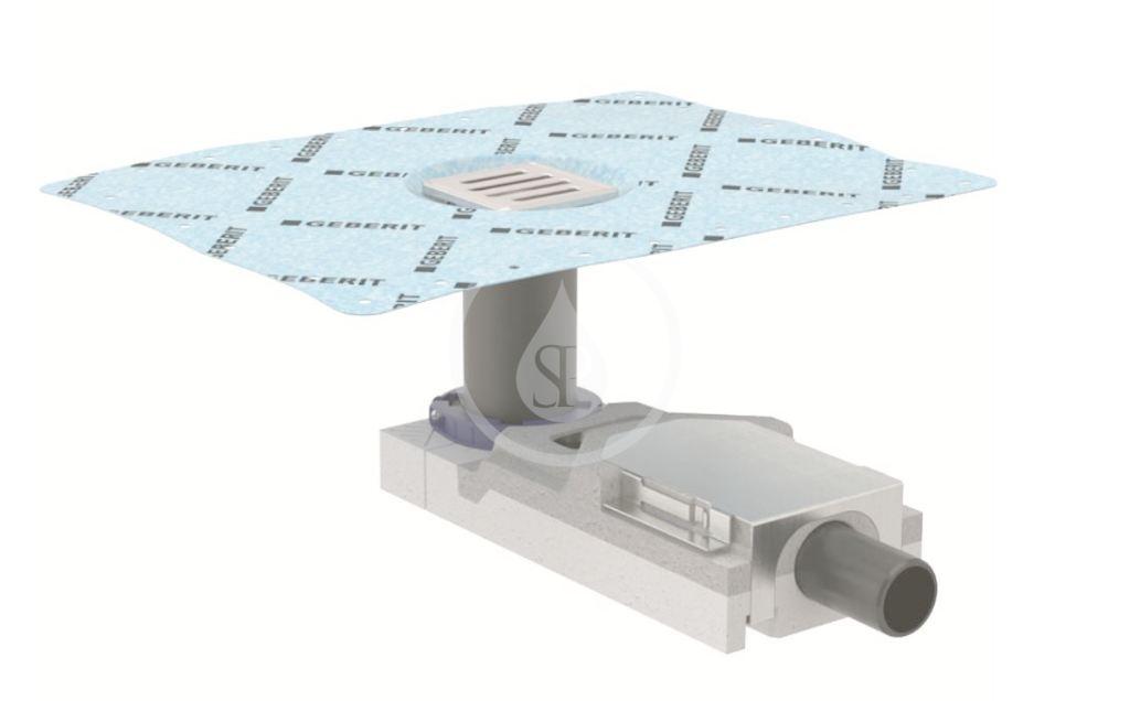 GEBERIT - Příslušenství Sprchová podlahová vpusť, pro výšku mazaniny u vtoku 65–90 mm (154.052.00.1)