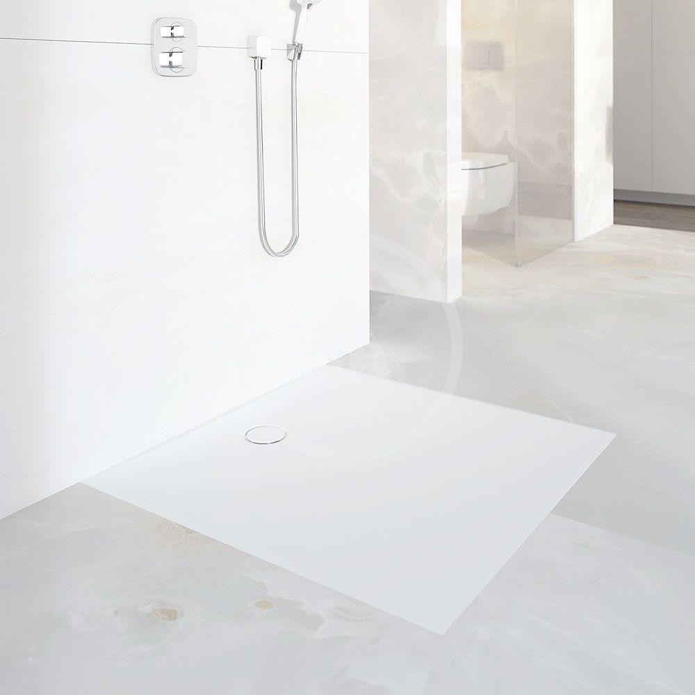 GEBERIT - Setaplano Plochá sprchová vanička, 900x1800 mm, minerálny materiál, Antislip, alpská biela (154.279.11.1)