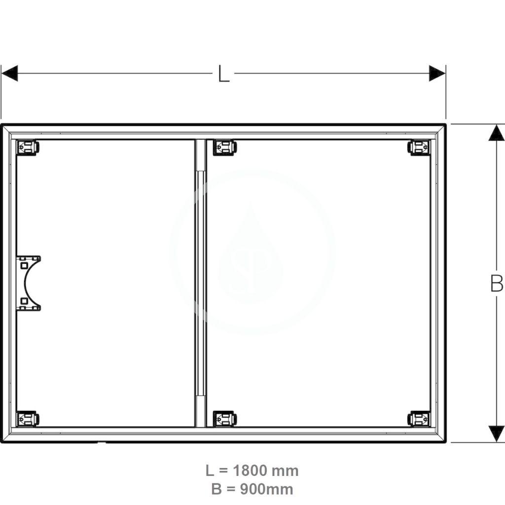 Setaplano Inštalačný rám Geberit na sprchovú vaničku Setaplano, nad 1000 mm (154.479.00.1)