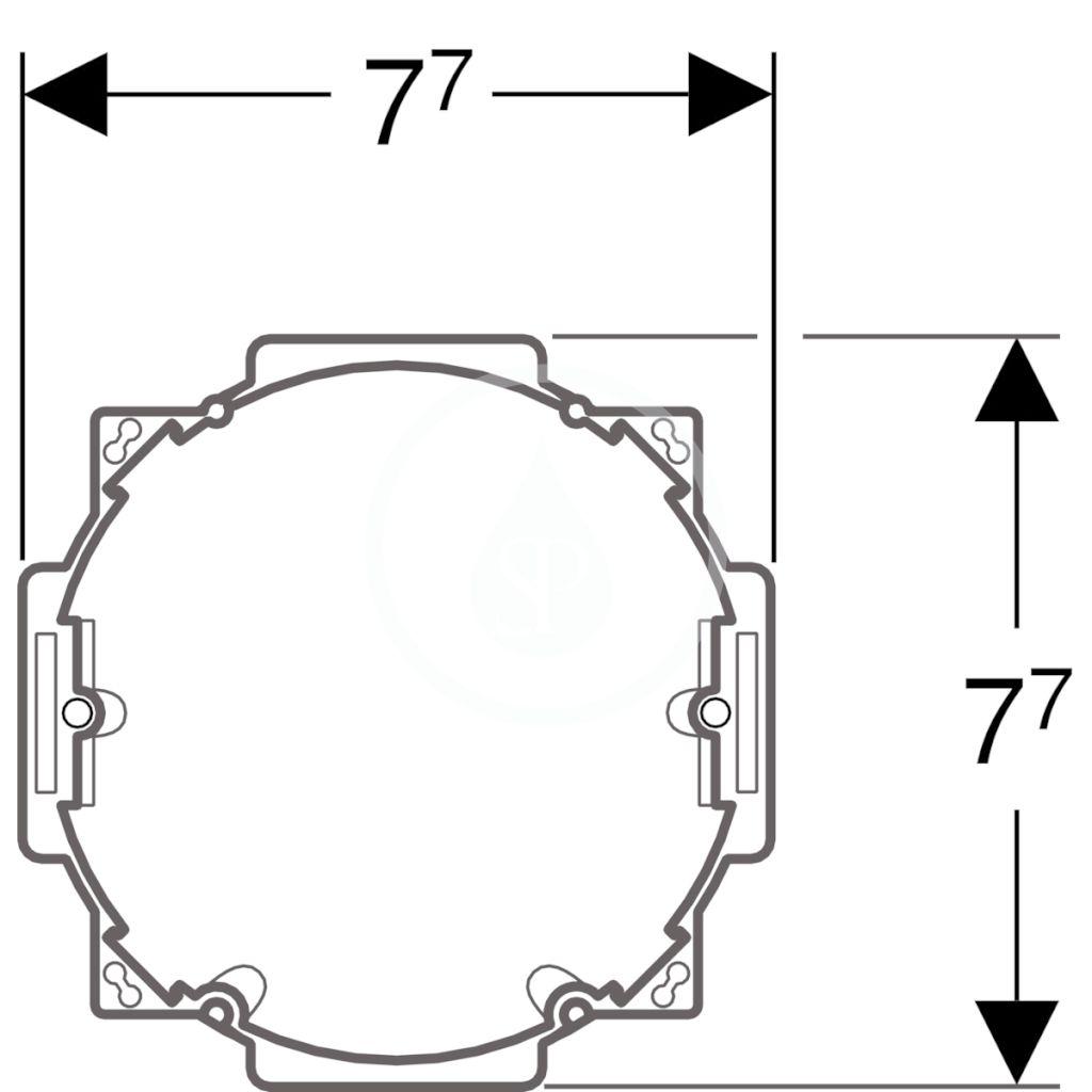 GEBERIT - Příslušenství Súprava na hrubú montáž batérií so sieťovým zdrojom (241.631.00.1)