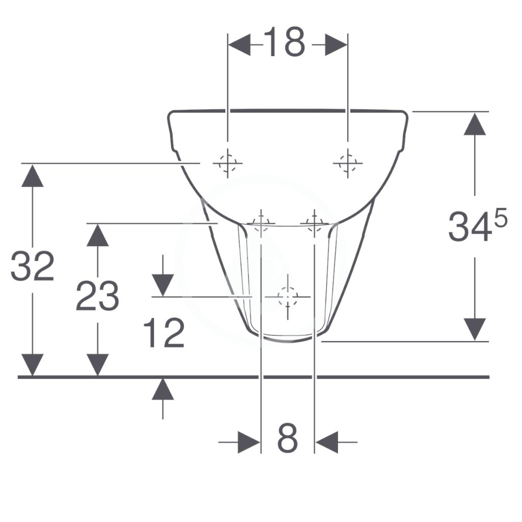 GEBERIT - Selnova Závesný bidet, 530x350 mm, biela (500.264.01.1)