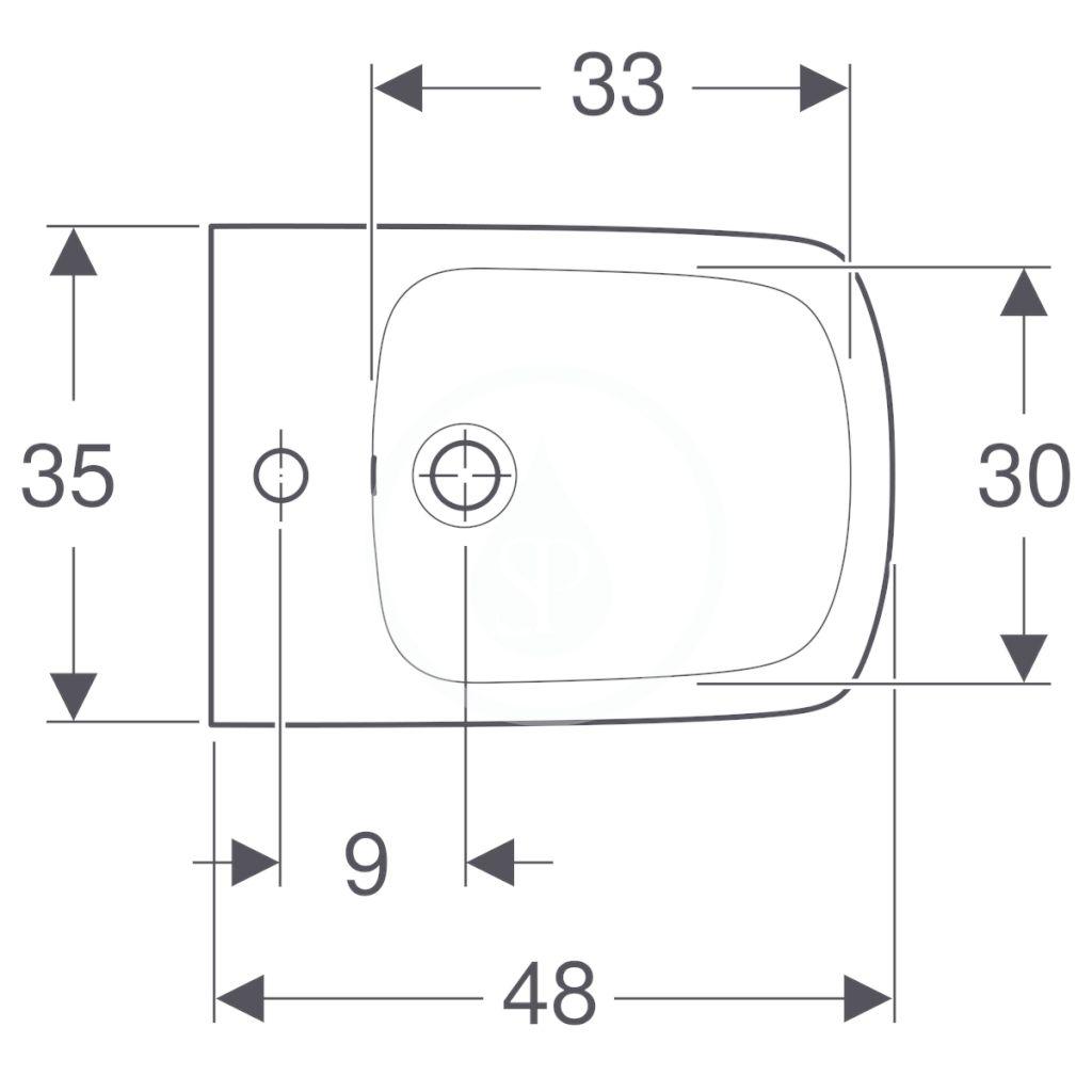 GEBERIT - Selnova Compact Závesný bidet, 480x350 mm, biela (500.272.01.1)