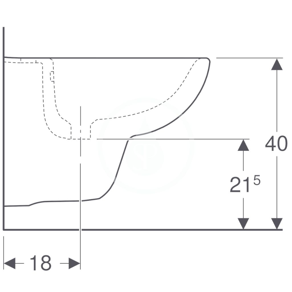 GEBERIT - Selnova Compact Závesný bidet, 480x355 mm, biela (500.368.01.1)