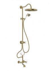 Súprava sprcha-vaňa batérie, excentre s tlmičom hluku, pevná sprcha priemer 310 mm (24217602LM)
