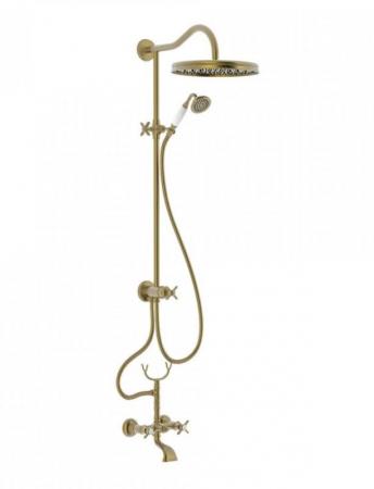 TRES - Súprava sprcha-vaňa batérie, excentre s tlmičom hluku, pevná sprcha priemer 310 mm (24217602LM)