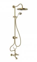 TRES - Súprava sprcha-vaňa batérie, excentre s tlmičom hluku, pevná sprcha priemer 310 mm (24217602LV)