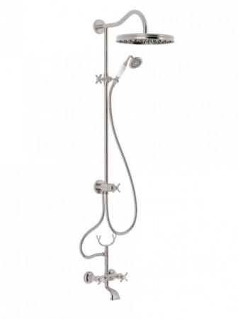 TRES - Súprava sprcha-vaňa batérie, excentre s tlmičom hluku, pevná sprcha priemer 310 mm (24217602AC)